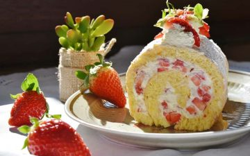 Jordbær Roulade